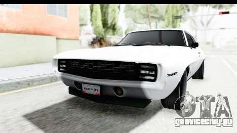 Chevrolet Camaro SS 1968 White Edition для GTA San Andreas