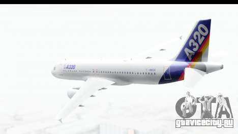 Airbus A320-200 Industrie MSN 1 1987 First Fligh для GTA San Andreas вид слева