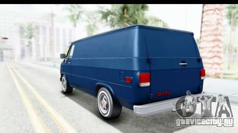 GMC Vandura 1985 White Stripes HQLM для GTA San Andreas вид слева