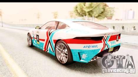 GTA 5 Ocelot Lynx IVF для GTA San Andreas вид сбоку