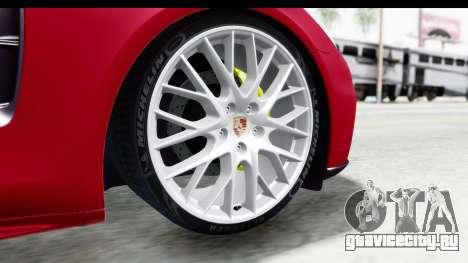 Porsche Panamera 4S 2017 v2 для GTA San Andreas вид сзади