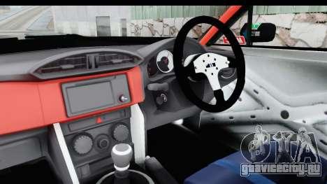 D1GP Toyota 86 2015 DRIVE для GTA San Andreas вид изнутри