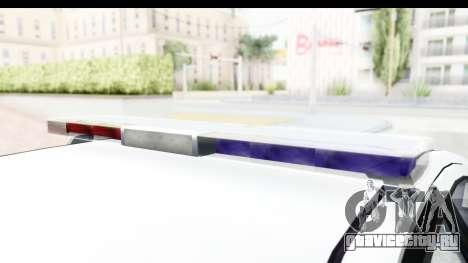 Sri Lanka Police Car v2 для GTA San Andreas вид изнутри