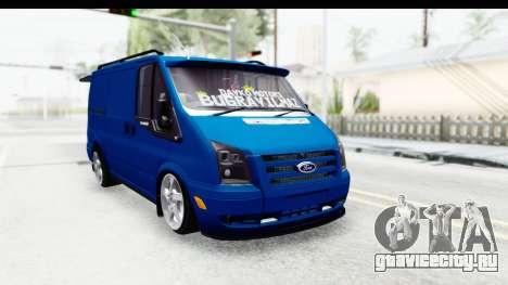 Ford Transit Air для GTA San Andreas вид сзади слева