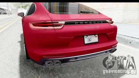 Porsche Panamera 4S 2017 v2 для GTA San Andreas вид снизу