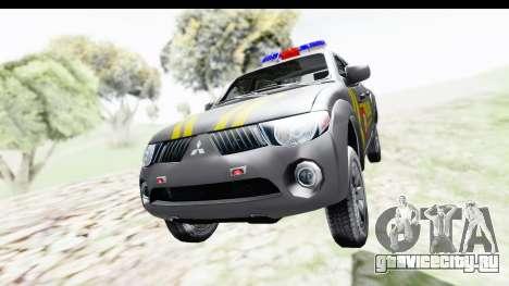 Mitsubishi L200 Indonesian Police для GTA San Andreas вид справа