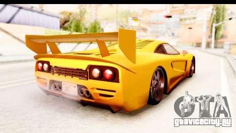 GTA 5 Progen Tyrus SA Style для GTA San Andreas вид сзади слева