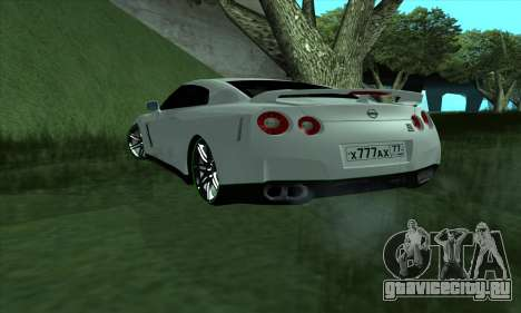 Nissan GT-R R35 Green Screen для GTA San Andreas вид слева
