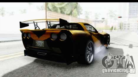 NFS Carbon Chevrolet Corvette для GTA San Andreas вид справа