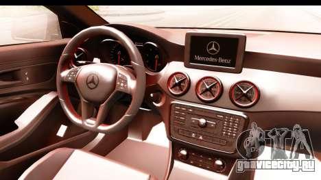 Mercedes-Benz CLA45 AMG 2014 для GTA San Andreas вид изнутри