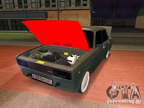 VAZ 2105 для GTA San Andreas вид сзади слева