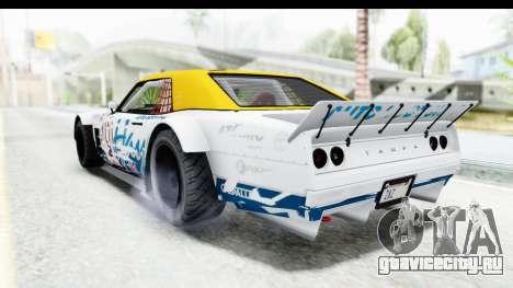 GTA 5 Declasse Drift Tampa для GTA San Andreas вид снизу