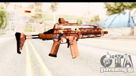 SCAR-LK Hex Camo Blue для GTA San Andreas