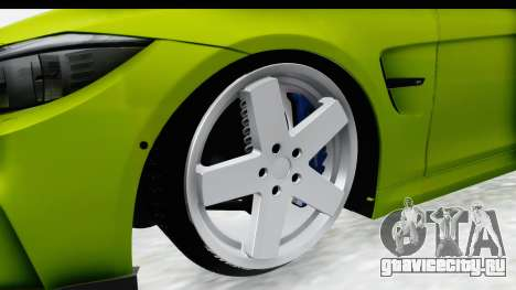 BMW M3 F30 Hulk для GTA San Andreas вид сзади