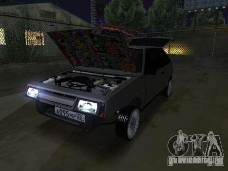 VAZ 2108 для GTA San Andreas вид сзади слева