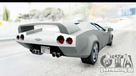 VCS Infernus для GTA San Andreas вид справа