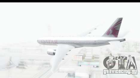 Boeing 777-200LR Qatar Airways для GTA San Andreas вид справа