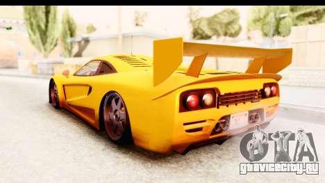 GTA 5 Progen Tyrus SA Style для GTA San Andreas вид справа