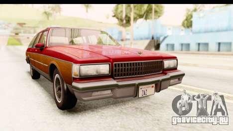 Chevrolet Caprice 1989 Station Wagon IVF для GTA San Andreas вид справа