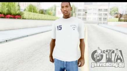 Stussy White T-Shirt для GTA San Andreas