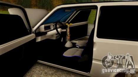 ВАЗ 1111 для GTA San Andreas вид сверху
