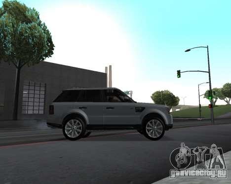 Range Rover Armenian для GTA San Andreas вид изнутри