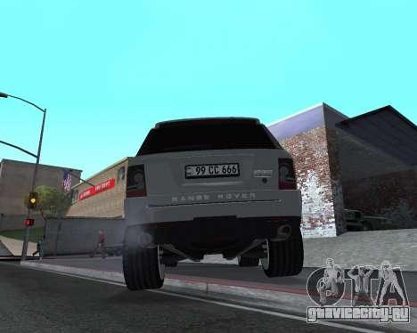 Range Rover Armenian для GTA San Andreas вид сзади