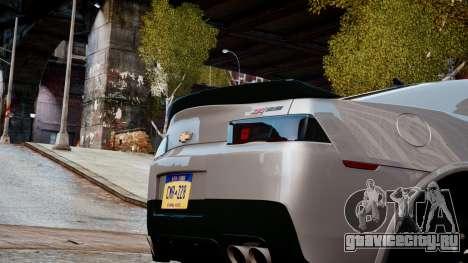 Chevrolet Camaro Z28 2014 для GTA 4 вид изнутри