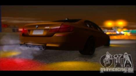 BMW M5 F10 2014 для GTA San Andreas вид сзади