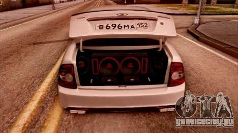 Lada Priora Autozvuk v.2 для GTA San Andreas вид сзади слева
