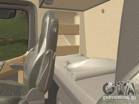 Mercedes-Benz Actros Mp4 6x4 v2.0 Bigspace для GTA San Andreas вид изнутри