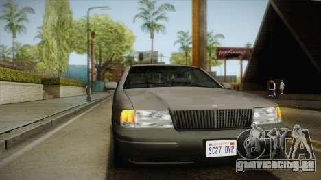 Willard Elegant SA Style для GTA San Andreas вид сбоку