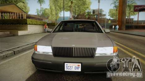 Willard Elegant SA Style для GTA San Andreas вид сзади слева