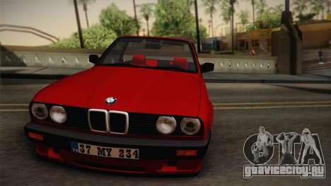 BMW M3 E30 1991 v2 для GTA San Andreas вид сзади слева