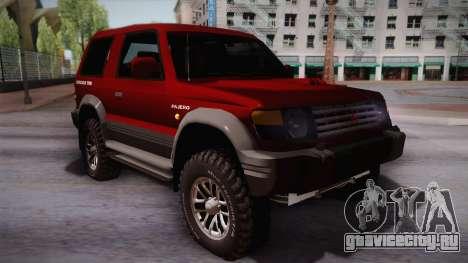 Mitsubishi Pajero 3-Door для GTA San Andreas