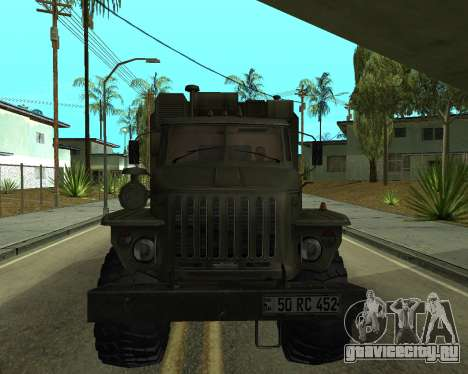 Ural 4320 Armenian для GTA San Andreas вид слева