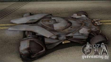Batman VS Superman Batmobile для GTA San Andreas вид сзади слева