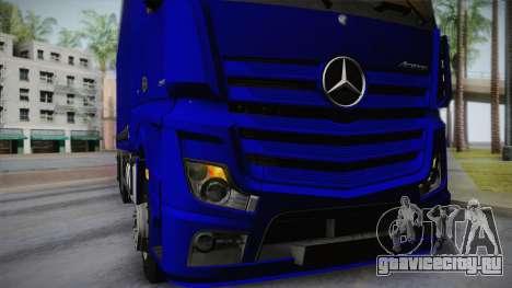 Mercedes-Benz Actros Mp4 v2.0 Tandem Steam для GTA San Andreas вид изнутри