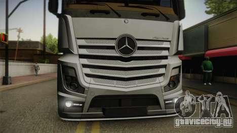 Mercedes-Benz Actros Mp4 6x4 v2.0 Steamspace v2 для GTA San Andreas вид справа
