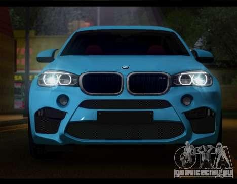 BMW X6M F86 для GTA San Andreas вид сзади слева