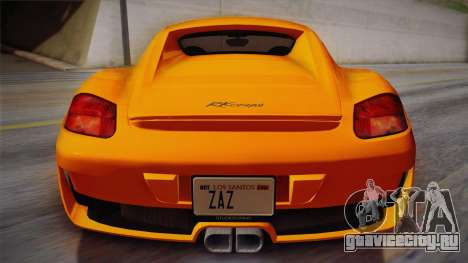 Ruf RK Coupe (987) 2007 IVF для GTA San Andreas вид сзади