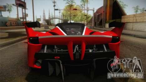 Ferrari FXX-K 2015 PJ для GTA San Andreas вид справа