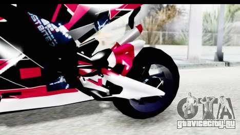 Dark Smaga Motorcycle with Frostbite 2 Logos для GTA San Andreas вид изнутри