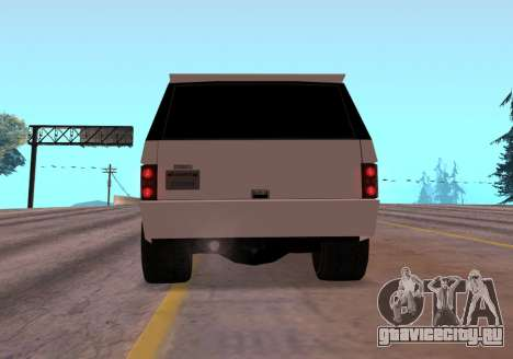 Huntley Rover для GTA San Andreas вид сзади