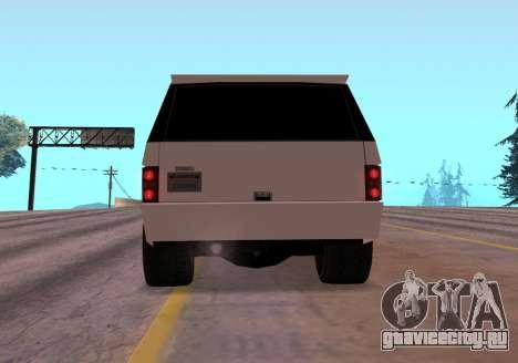 Huntley Rover для GTA San Andreas вид сзади