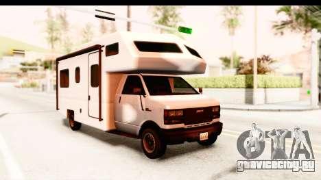 GTA 5 Camper для GTA San Andreas вид сзади слева