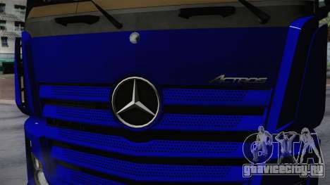 Mercedes-Benz Actros Mp4 v2.0 Tandem Steam для GTA San Andreas вид сзади