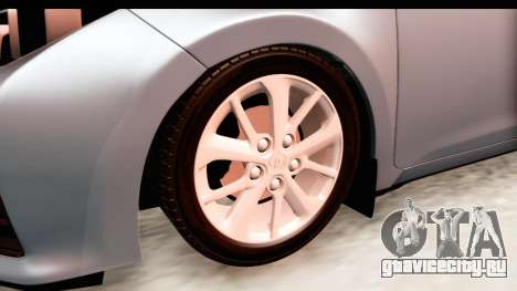 Toyota Corolla 2014 IVF для GTA San Andreas вид сзади