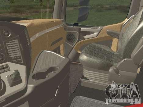 Mercedes-Benz Actros Mp4 6x4 v2.0 Bigspace для GTA San Andreas вид сзади