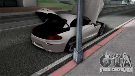 BMW Z4 для GTA San Andreas салон